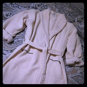 Cozy terry lined waffle robe